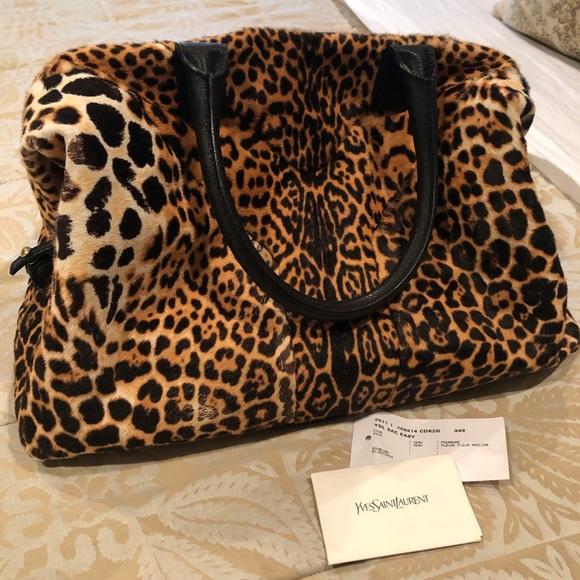 51adf51183cf Yves Saint Laurent cheetah print handbag satchel. M 5c2d318abaebf64497660bb2